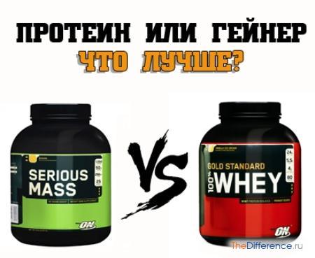 отличие гейнера от протеина