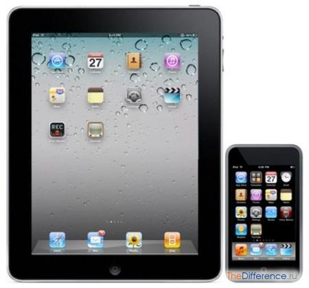 отличие iPod от iPad