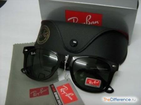 разница между очками Ray Ban и подделкой