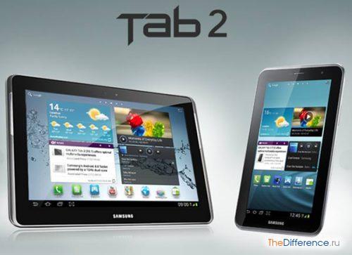 разница между iPad 3 и Samsung Galaxy Tab 2