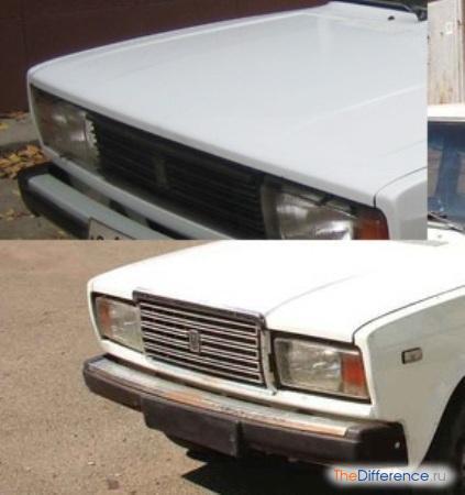 отличие ВАЗ 2105 от ВАЗ 2107
