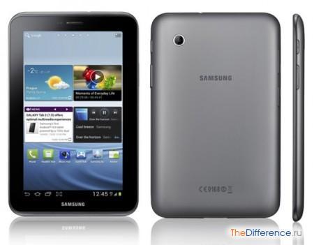 отличие Samsung Galaxy Tab 2 от iPad 3