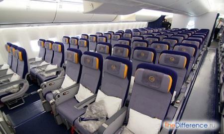 отличие бизес-класса от эконом-класса в самолете