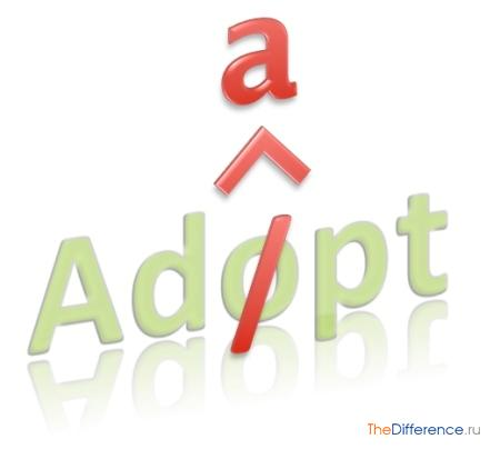 отличие adopt от adapt