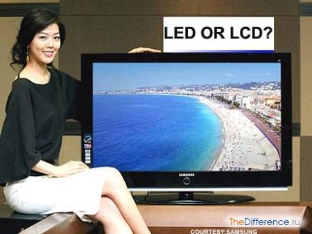 отличие LED от LCD