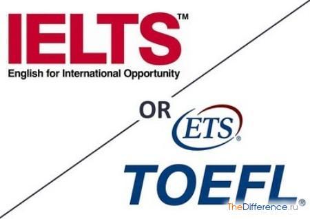 отличие TOEFL от IELTS