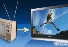 Разница между цифровом и аналоговым телевидением