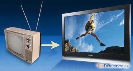 отличие цифрового телевидения от аналогового