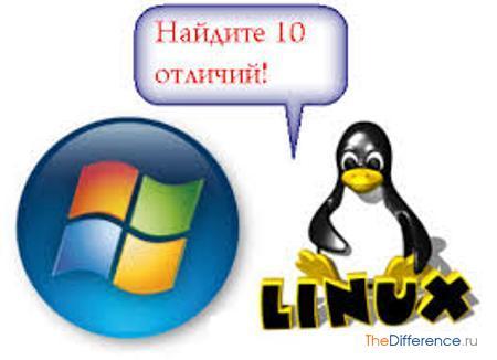 отличие Linux от Windows