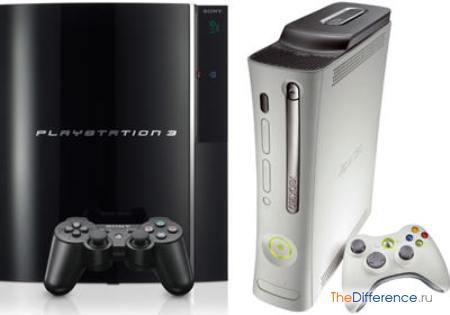 отличие xbox 360 от Sony PlayStation 3