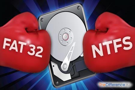 отличие FAT32 от NTFS