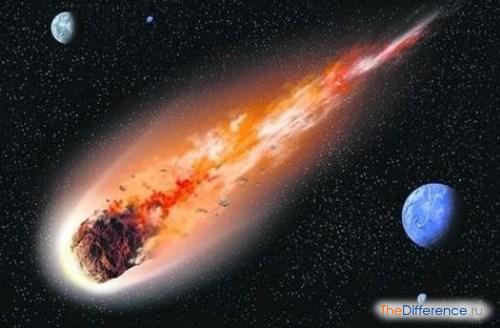 отличие кометы от метеорита