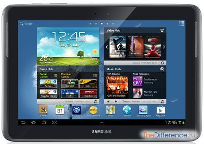 разница между Samsung Galaxy Tab 2 и Samsung Galaxy Note