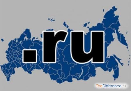 отличие домена com от домена ru