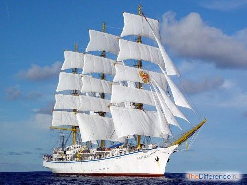 отличие корабля от судна
