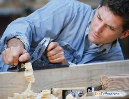 отличие плотника от столяра