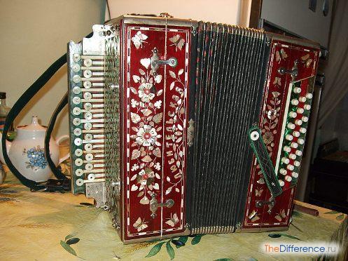 Русская гармонь хромка с клавиатурами 25×25