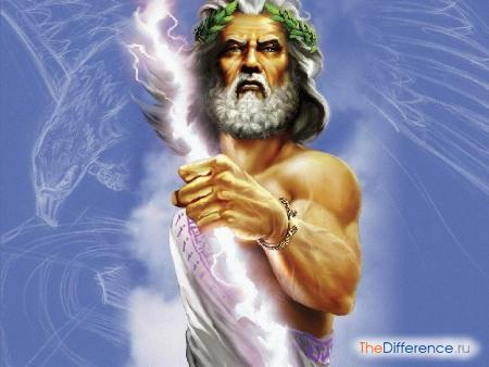 отличие богов-олимпийцев от людей