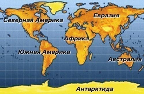 отличие материка от континента