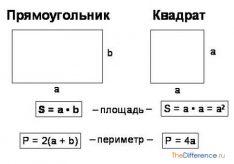 Разница между площадью и периметром