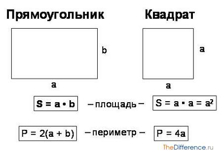 отличие площади от периметра