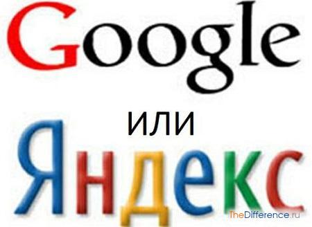 отличие Яндекс от Гугл