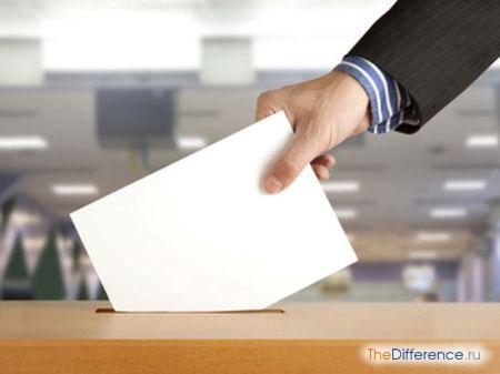 отличие выборов от референдума