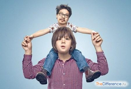 отличие ребенка от взрослого