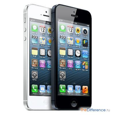 отличие iPhone 5 от Samsung Galaxy S3
