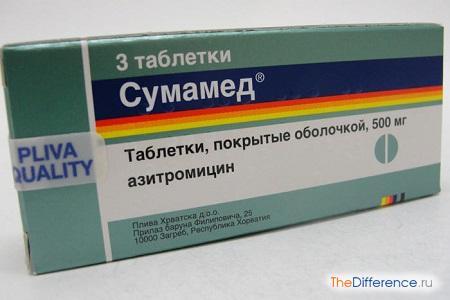 отличие Сумамеда от Азитромицина