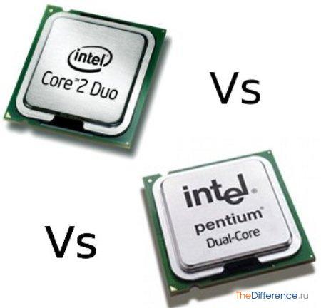 отличие Pentium Dual Core от Core 2 Duo