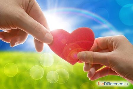 отличие формы любви от формы любови