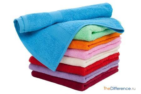 отличие формы полотенец от полотенцев