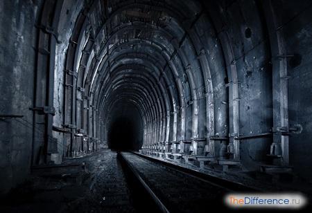 отличие слова тоннель от туннель