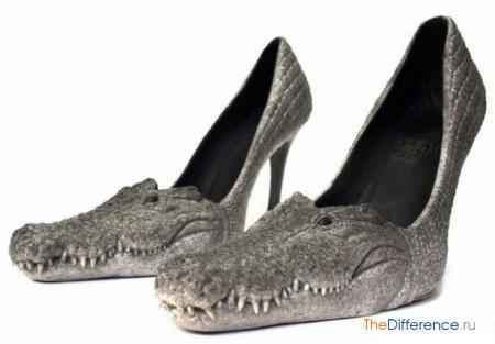 отличие формы туфель от формы туфлей