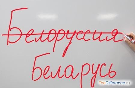 отличие понятия Беларусь от понятия Белоруссия