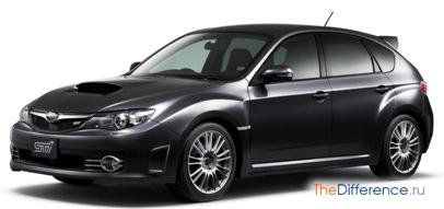 отличие Subaru Impreza WRX от WRX STI