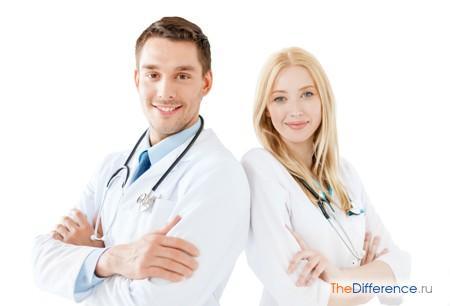 отличие врача от доктора