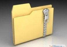 Разница между файлом и папкой