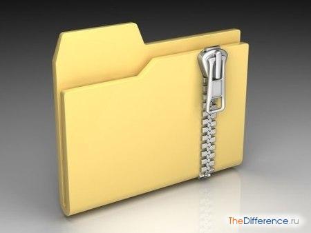 отличие файла от папки