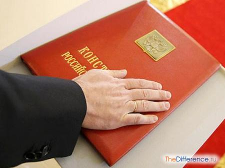 отличие конституции от других законов