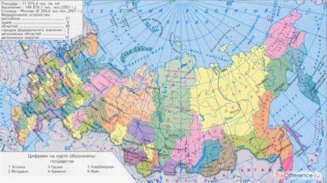 разница между глобусом и картой