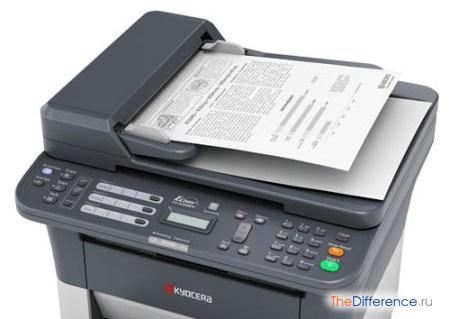 отличие принтера от сканера
