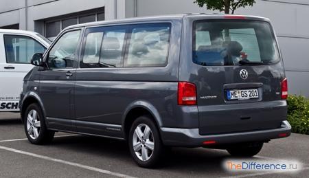 разница между VW каравеллой и мультивеном