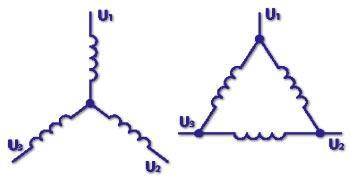 отличие соединения звезда от соединения треугольник