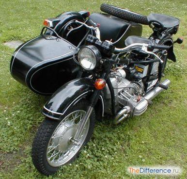 отличие мотоцикла Днепр от Урала