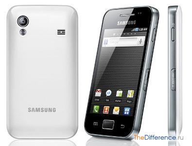 отличие Samsung Galaxy GT-S5830 от GT-S5830i