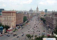 Разница между бульваром и проспектом