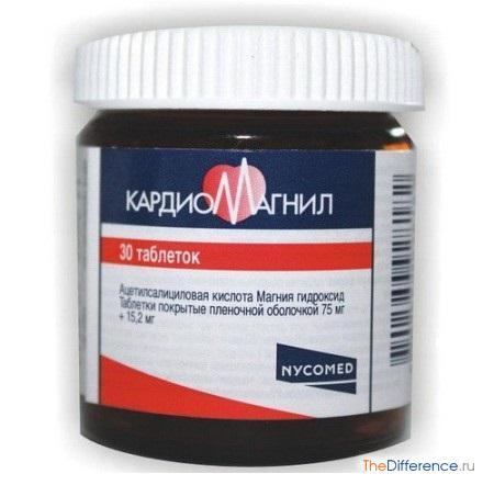 отличие Кардиомагнила от Аспирина