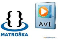 Разница между mkv и avi